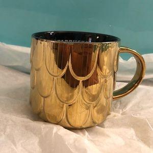 Starbucks Gold Mermaid Scales Mug